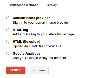 cPanel - Google Apps - Verify domain methods